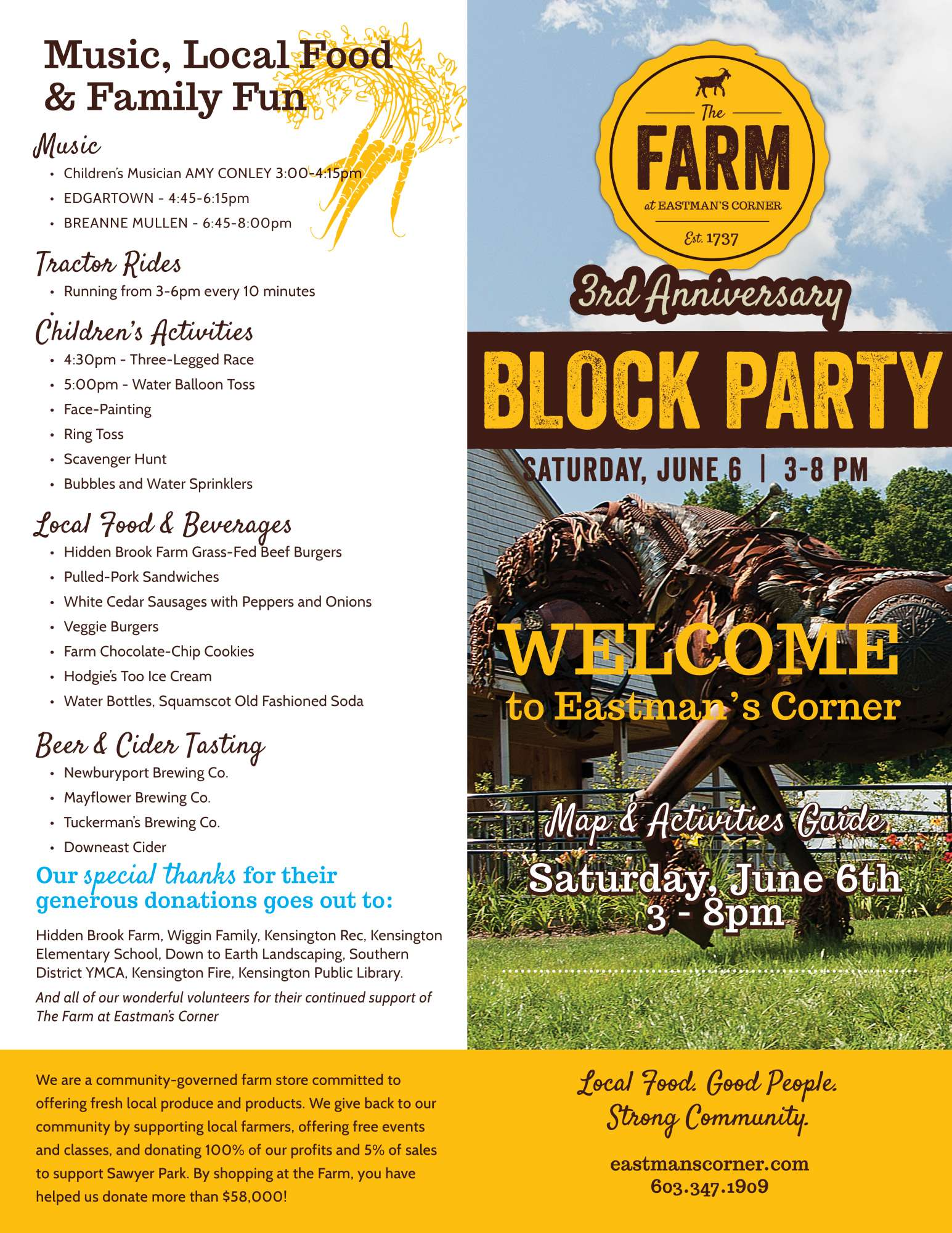 the farm at eastman s corner 2015 block party flyer image